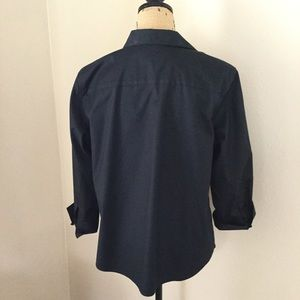 Chico's Tops - NWOT Chicos size L 12 navy button down blouse